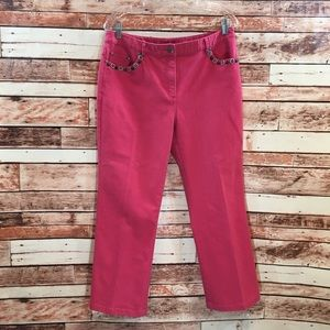Ruby Rd coral jeans size 10.